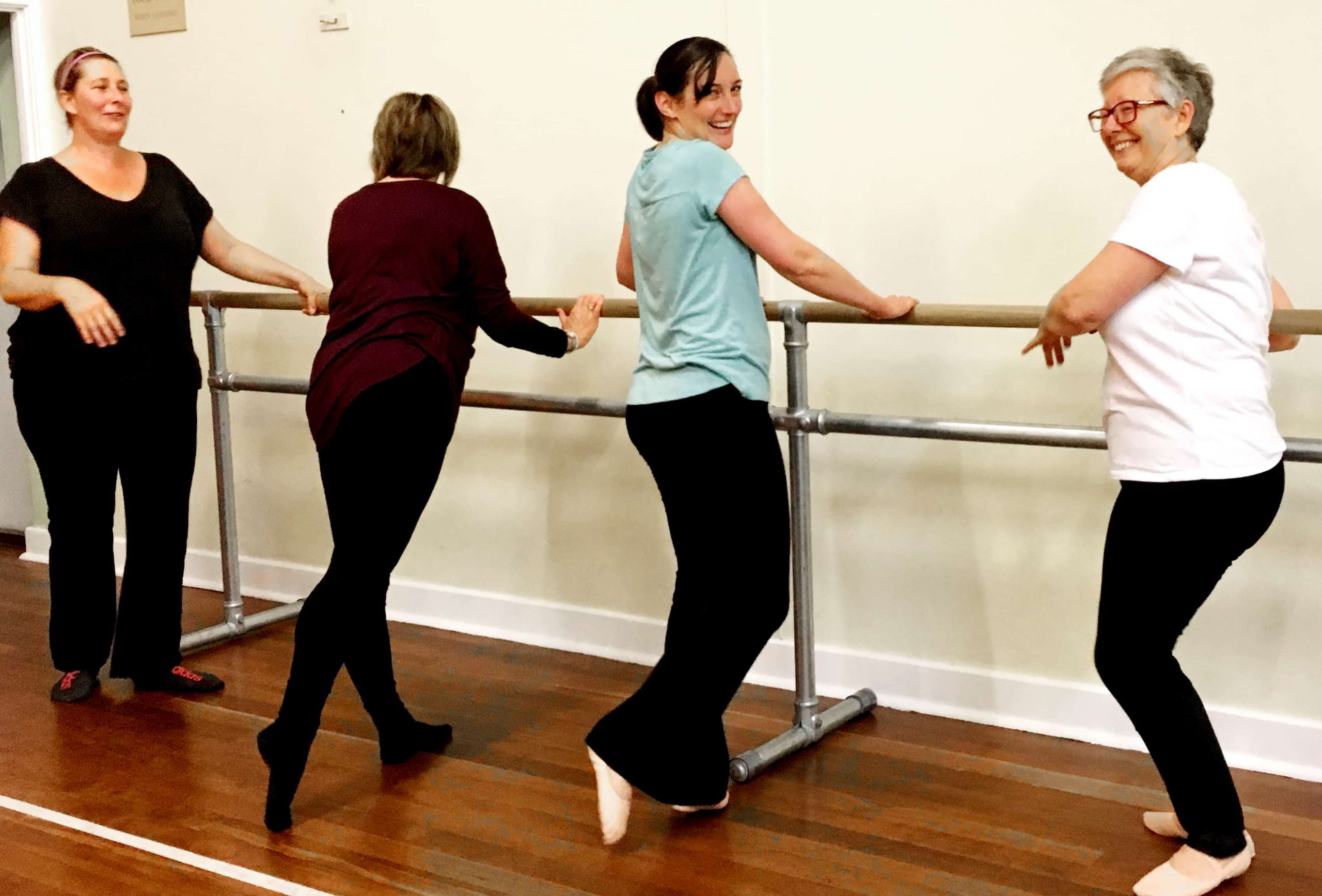 Elissa returned to ballet for the ankle exercises, and found new friends as well