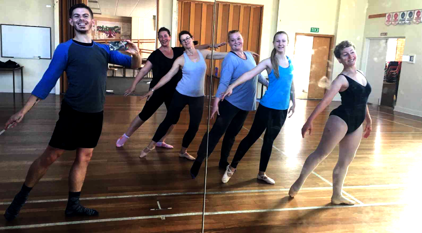 Ballet class at Move Through Life Dance Studio - dare to dream that you can be a dancer, whatever your age, size, shape, or experience