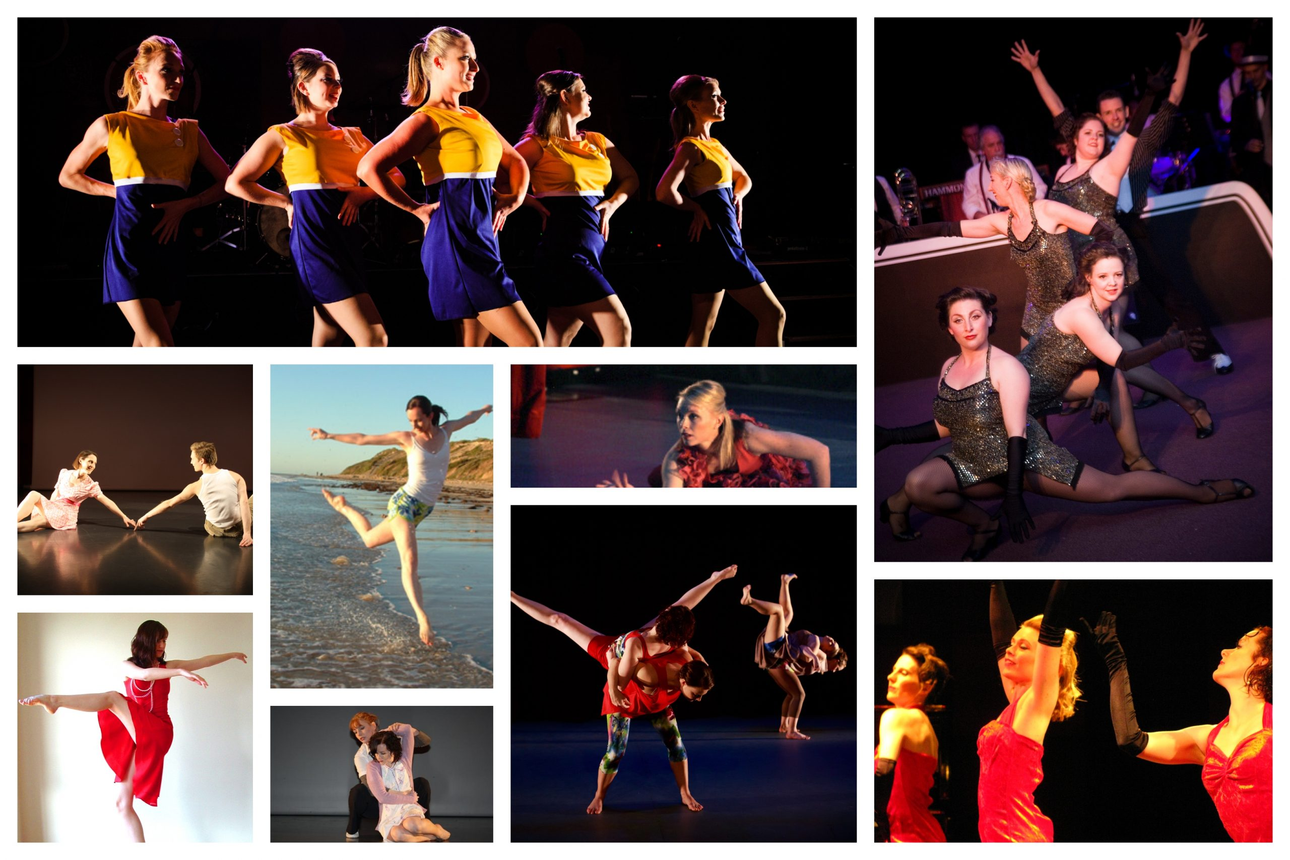 Collage of performance photos
